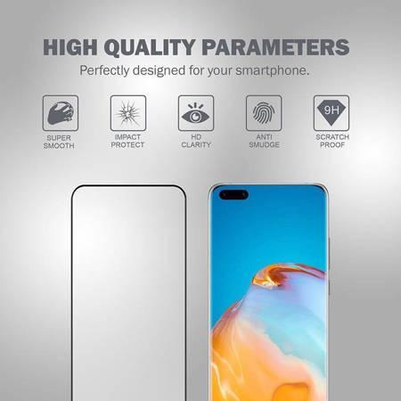 Crong 3D Armour Glass – Szkło hartowane 9H na cały ekran Huawei P40 Pro + ramka instalacyjna