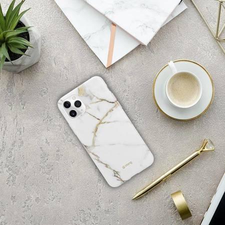 Crong Marble Case – Etui iPhone 11 Pro (biały)