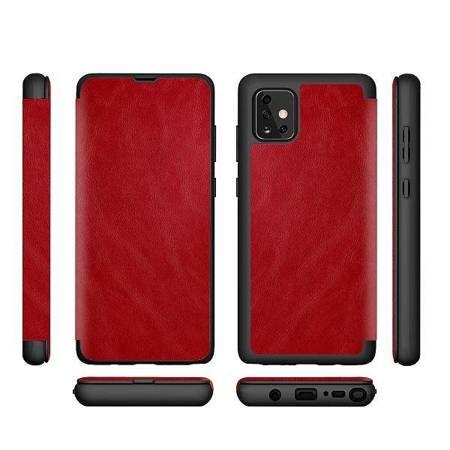 "Etui Leather Book iPhone 12/12 Pro 6,1"" czerwony/red"