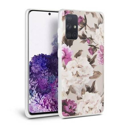 Etui Tech-Protect Samsung A415 A41 Floral beżowy/beige