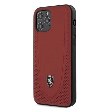 "Ferrari FEOGOHCP12MRE iPhone 12/12 Pro 6,1"" czerwony/red hardcase Off Track Perforated"