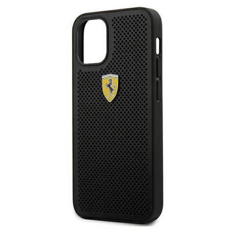 "Ferrari FESPEHCP12SBK iPhone 12 mini 5,4""  czarny/black hardcase On Track Perforated"