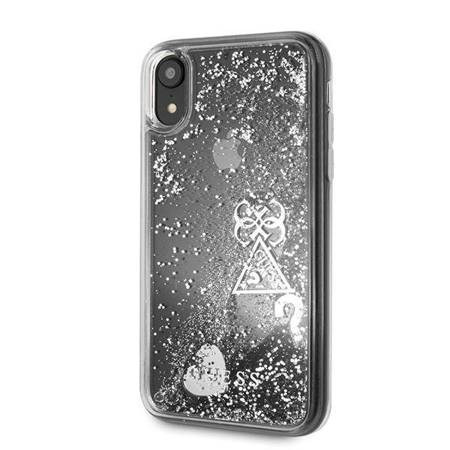 Guess GUOHCI61GLHFLSI iPhone Xr srebrny/silver hardcase Glitter Charms