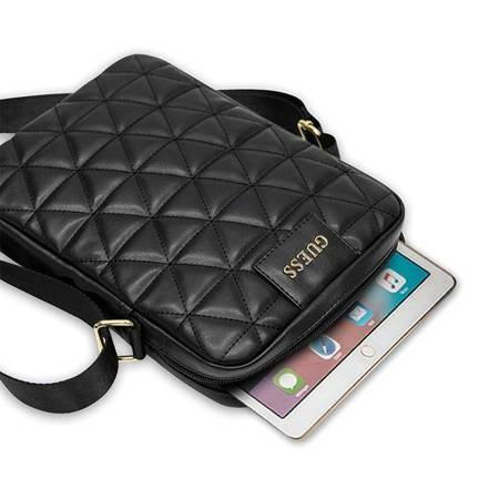 Guess Quilted Tablet Bag - Torba na notebooka / tablet 10 (czarny)