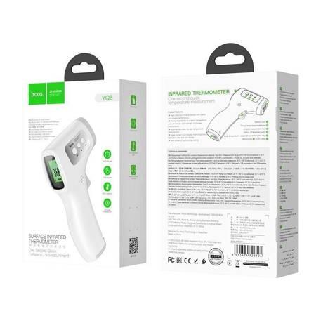 Hoco infrared thermometer - Bezdotykowy termometr na podczerwień (biały)