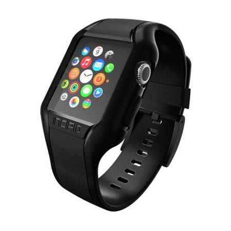 Incipio NGP Strap - Elastyczny pasek do Apple Watch 38mm (czarny)