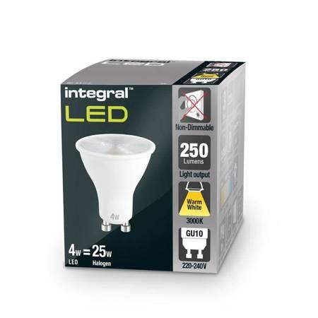 Integral żarówka LED GU10 PAR16 4W (35W) 3000K 250lm barwa biała ciepła