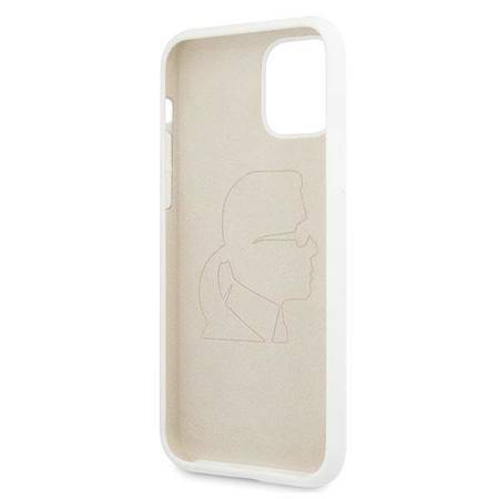 Karl Lagerfeld Fullbody Silicone Iconic - Etui iPhone 11 Pro Max (White)