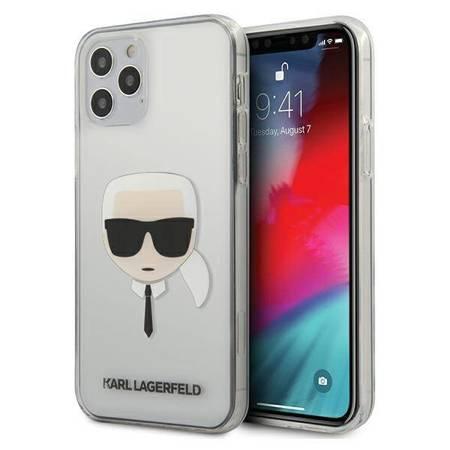 Karl Lagerfeld Head - Etui iPhone 12 / iPhone 12 Pro (przezroczysty)