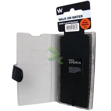 Krusell Walk On Water Icon 3 Card Foliocase - Etui Sony Xperia L1 z kieszeniami na karty (czarny)
