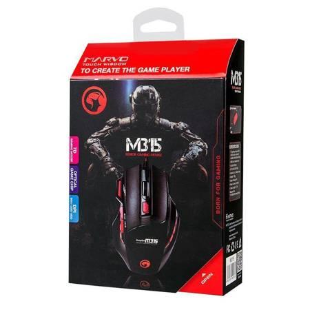 Marvo M315 - Mysz optyczna 1600 DPI (czarny)