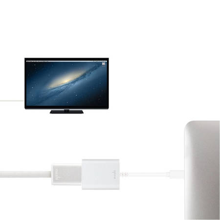 Moshi Mini DisplayPort to HDMI Adapter (4K) (srebrny)