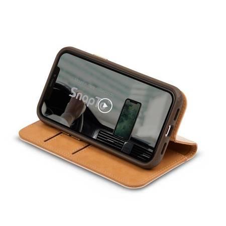 Moshi Overture - Etui 2w1 iPhone 12 / iPhone 12 Pro z kieszeniami na karty + stand up (system SnapTo) (Luna Pink)