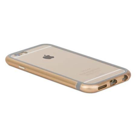 Moshi iGlaze Luxe - Etui z aluminiową ramką iPhone 6s / iPhone 6 (Satin Gold)