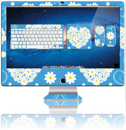 Nexgen Skins - Zestaw skórek na obudowę z efektem 3D iMac 27 (Hearts and Daisies 3D)