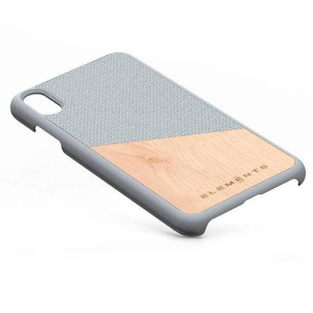 Nordic Elements Original Hel - Drewniane etui iPhone Xs Max (Light Grey)