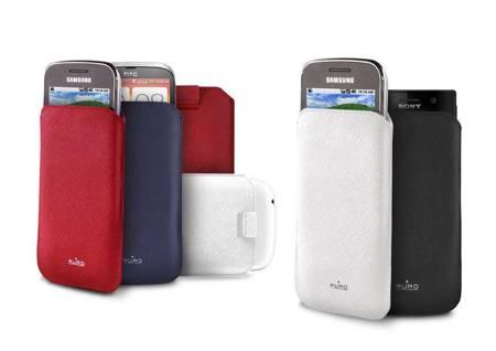 PURO Essential Slim - Etui uniwersalne do smartfonów rozmiar M (czarny)