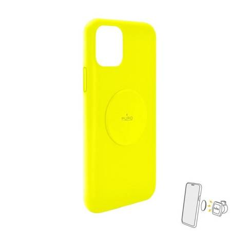 PURO ICON+ Cover - Etui magnetyczne iPhone 11 (fluo żółty)
