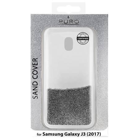 PURO Sand Cover - Etui Samsung Galaxy J3 (2017) (liquid & glitters Silver)