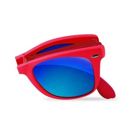 PURO Sunny Kit - Zestaw etui iPhone SE 2020 / 8 / 7 + składane okulary przeciwsłoneczne (czerwony)