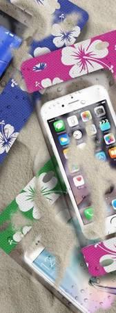 PURO Waterproof Bag - Nieprzemakalne etui smartphone/phablet max. 5.7 (różowy)
