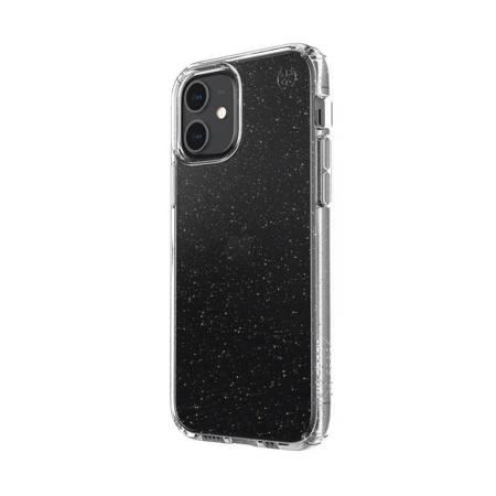 Speck Presidio Perfect-Clear with Glitter - Etui iPhone 12 / iPhone 12 Pro z powłoką MICROBAN (Gold Glitter/Clear)