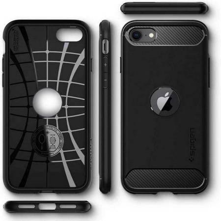 Spigen Rugged Armor iPhone SE2020 czarny/black ACS00944