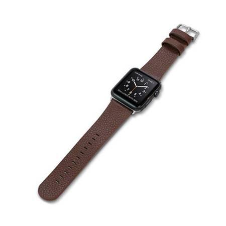 X-Doria Lux Band - Skórzany pasek do Apple Watch 38mm (brązowy)