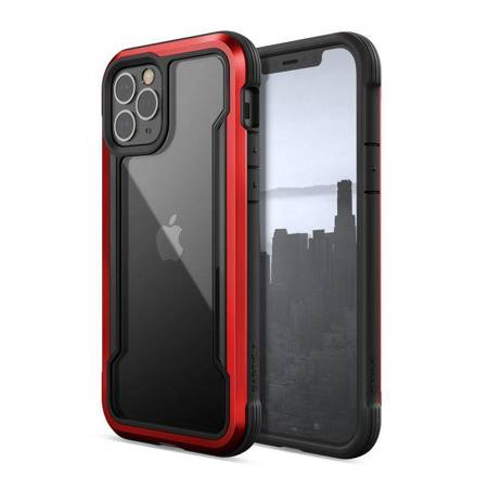 X-Doria Raptic Shield - Etui aluminiowe iPhone 12 / iPhone 12 Pro (Drop test 3m) (Red)